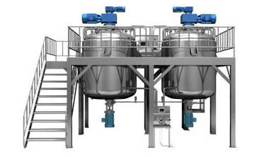 Bottom Homogenizing Vacuum Emulsifier Equipment